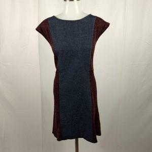Theme Size Large Maroon Blue Jean Sleeveless Dress